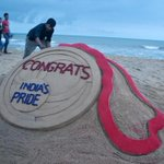 "RT @BBSRBuzz: From #odisha #puri #beach ""@DDNewsLive: Pattnaik creates a sand sculpture to congratulate Indian athletes #CWG2014 http://t.co/blfSkXumDe"""