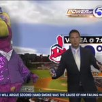 Honored to have the birthday boy @SliderTheMascot helping me with the forecast today! http://t.co/TFgyG4D2IW