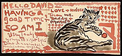 Painter Moses Soyer was way ahead of the #LOLcats meme #MuseumCats (#ArchivesCats) http://t.co/QoCDaEkpFY http://t.co/85O0zpCh27