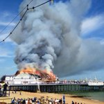 RT @DanGasser: Eastbourne Pier going the way of the West Pier. Very sad. #Brighton #Sussex http://t.co/6RtoMjyb0t""