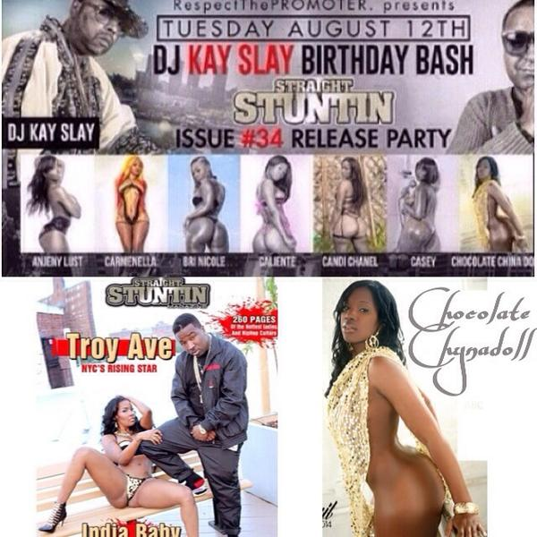 Tonight it's going down at @NYSUES @RealDjKayslay and cover girl @indiababy of issue #34 of STRAIGHTSTUNTIN http://t.co/gTeGYSF9jU