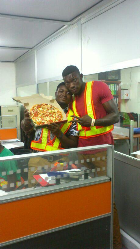 "Lol""@trotromate: Pizzafie ""@ASVP_NiCK_GH: #WelcomeToGhana where boys take pics with pizza http://t.co/ekCKYfGmLZ"""""