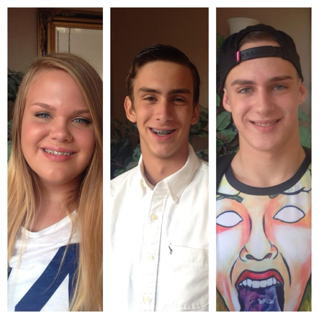 First day of school. I don't think it's possible to love these guys more than I do. Freshman, sophomore and senior. http://t.co/mH4G25TOOd