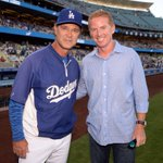 Coach Garrett with Coach Mattingly before tonights @Dodgers game http://t.co/TPag7iJdGM