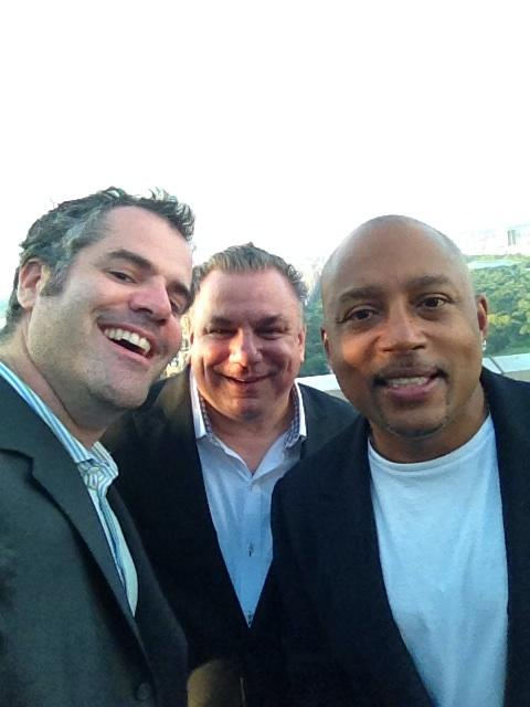 Angel Investor Cocktail party on Kevin's roof with @DJFresch. My friend @TheSharkDaymond just arrived! http://t.co/DECbKz2Yg7
