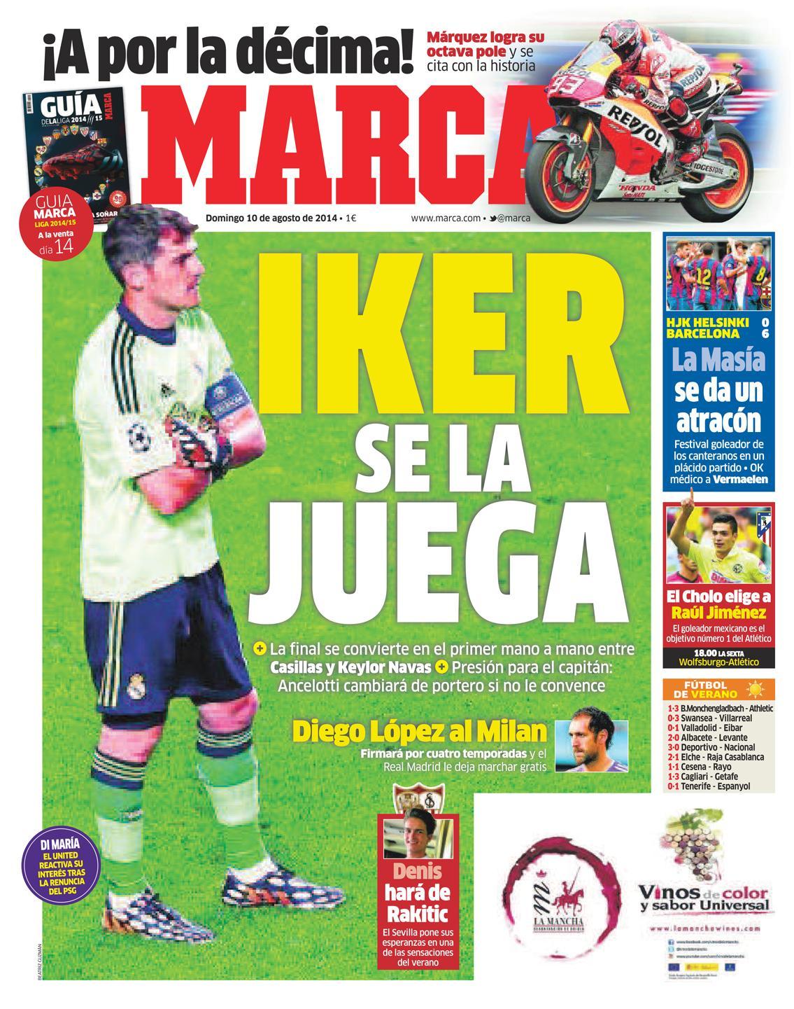 #LaPortada 'Iker se la  juega' http://t.co/mIk7ueOzYc