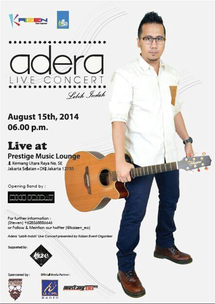 smith friends! jangan lupa dateng ke  @ADERA_ega Live Concert, 15 Agustus ayo buruan beli tiketnya. tempat terbataaas http://t.co/moGByui1DM