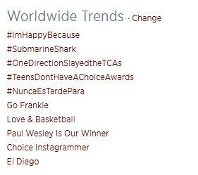 Paul Wesley Is Our Winner has been trending for about 15 min or so. Way to go #PDubPosse! :) @paulwesley did you see? http://t.co/EU9cdDkJb7