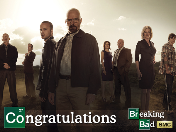 It's all in the chemistry. Congratulations to our #BreakingBad cast and crew on their #Emmys win! http://t.co/lQUImzD82e