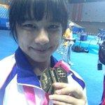 RT @nanjing2014yog: Nien-Hsin Chiang(TPE) takes a #YOGselfie with her #YOGweightlifting gold medal #nanjing2014 @youtholympics http://t.co/fihS7UJCee