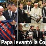 RT @elcomerciocom: #PapaFrancisco recibió réplica de #CopaLibertadores de San Lorenzo » http://t.co/2kSTjoOags http://t.co/FLW1EUmZ7V
