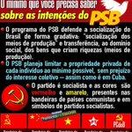 RT @BR19752014: O MÍNIMO QUE VOCÊ PRECISA SABER SOBRE O PSB O PT e o PSB, como partidos vermelhos, planejam socializar o Brasil. http://t.co/igzCe07TPx