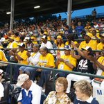 Jackie Robinson West families ready for first pitch. #JRW #LLWS http://t.co/wToaWJCHPJ