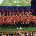 RT @ArtSciencesSU: .@SyracuseU marching band on their feet, about to get started! #SUWelcome http://t.co/dyG5wxXNeB