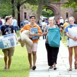 Photos: @Yale University freshmen moved into residence halls in #NHV today http://t.co/ZX0IrpFAy2 http://t.co/0qLMW4YLH5