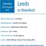 Good Morning Day 8 Leeds - Wakefield Saturday 23rd August Assemble Leeds Art Gallery From 9am #march4nhs http://t.co/tV97AfNXkk