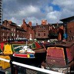 #Birmingham UK, canal boats at Gas Street Basin in the city centre. #photos @BrumIsBrill @CanalRiverTrust @visit_bham http://t.co/uYriJMtG2M