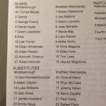 RT @swfc: TEAM LINE-UP: Here is the official teamsheet for the Owls clash with Middlesbrough #swfc http://t.co/BSkEWMPWtp