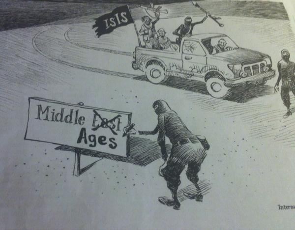 This editorial cartoon from the international @nytimes kinda nails it... #ISIS http://t.co/2Yzsyuf7O5