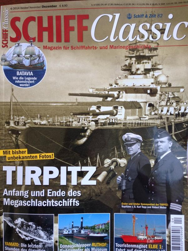 Article about GOST Expedition #ATHENIA published in actual 'SCHIFF Classic' magazine. Available at your Newsstand http://t.co/JjIPAlzTtf
