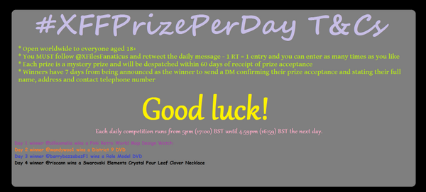 Follow @XFilesFanaticus and RT to #win a mystery prize in my #XFFPrizePerDay #Day6 #Competition #Contest T&Cs in pic http://t.co/DWJHM86GDN