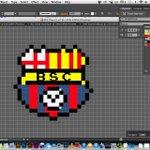 RT @CBakanes: Estamos trabajando un Nuevo Diseño de @BarcelonaSCweb en 8 bits, qué les parece? Diseño de @torres_azael http://t.co/gkgVgyP9kB
