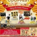 Wow! IKOPIN present @coopfest_ w/ @raisa6690 @Tulusm @Maliqmusic @Naifband @Moccaofficial etc | 6 Sept at Sabuga http://t.co/zL9sKIpNIH