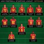 RT @USC_Athletics: The 2014 USC Football starting lineups for the season opener vs. Fresno State. #FightOn http://t.co/P8OQAQJTsb