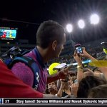 Id call that class. RT @cjzero: Nick Kyrgios lost but gave away his racket, is signing autographs and taking selfies http://t.co/XaC0xqpFYI