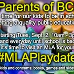 RT @MLAPlaydate: No school?!? Then its #MLAPlaydate time! See http://t.co/kWCUkfCoyB for locations, resources #bced #bcpoli http://t.co/1WCr5TqfO2