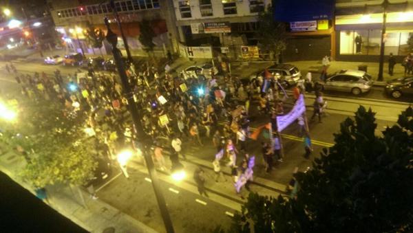 #DCFerguson protest on #HStNE from above. h/t @WhiskeysDC http://t.co/faAb3NeHb1