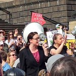 The awesome @VanBadham our amazing MC today! Pumping the people up! #MarchInAugust #MarchAustralia #Melbourne #AusPol http://t.co/MkzNyMvwzb