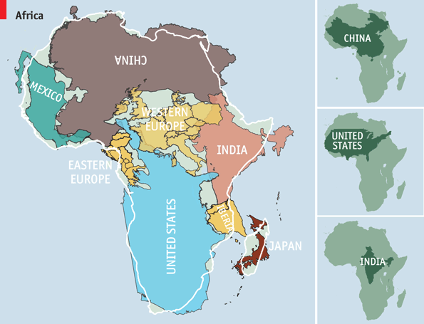 """@TheEconomist: How big is Africa really? Much bigger than it looks on most maps http://t.co/8Mak2y8dyH http://t.co/kRraj30YL0"""