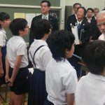 New role! PM @narendramodi attends 136 year old school in Tokyo. Dons mantle of class teacher. http://t.co/KcVJMLfgK0