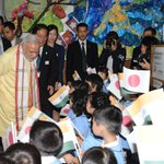 RT @MEAIndia: Welcome Mr Prime Minister. @PMOIndia greeted by children at 136 year old Tokyo school. http://t.co/sZZSlsx72p