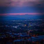 Sunset over #Missoula from Mount Sentinel. #MissoulaMoment #MontanaMoment #Missoula #Zootown #406 #bpinspirations http://t.co/B6NpI6bsK7