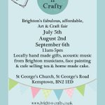 Come to our event this Sat, locally handmade gifts, cafe, live music and facepainter #brighton please RT flyer! Tia x http://t.co/h18mwREaxI