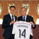 #BienvenidoChicharito Javier Hernández YA es jugador del Real Madrid! http://t.co/nl7YVxXhWa http://t.co/OAzA4xa5Mn