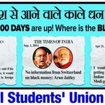 RT @ajaymaken: BJP Govt neither releasing black money nor NSUI President who was lathicharged and arrested! #100DaysIndiaPays http://t.co/4cKvoHYcyW