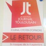 Noubliez-pas : le Journal Toulousain jeudi en kiosques !!!!! @AURELIERENNE @severine_sarrat @tsimonian @remidp http://t.co/VIo7t5SuAj