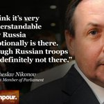 """RT @cnni: Top Kremlin ally tells @holmescnn Russia is """"emotionally"""" in Ukraine … but its troops aren't. http://t.co/5dCROO3C17 http://t.co/tJzU3l818d"""