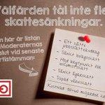 RT @CeciliaEklund: Fler skattesänkningar eller mer välfärd? Nu avgörs valet! #väljvälfärden #bytregering @FacketKommunal #svpol #val2014 http://t.co/Io8Tu9xCDJ