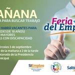 #Mañana Aprovecha más de 2,750 #vacantes #Feriadelempleo en la Pres. Mpal. 3 de sept. de 9am a 2pm #Saltillo http://t.co/8Qov9y1Qvn
