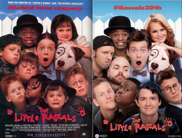 �the little rascals� recreated their movie poster 20 years