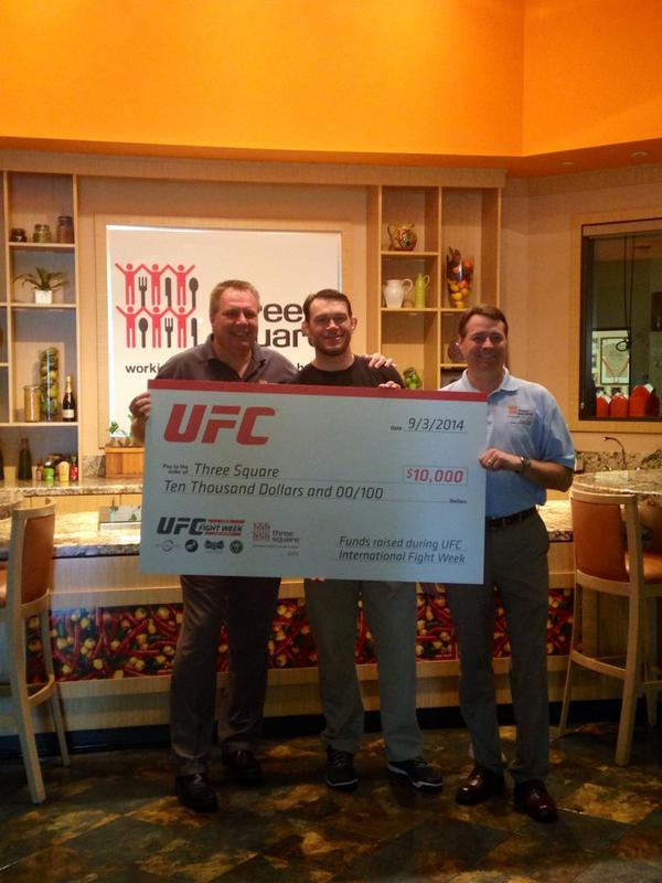 We can provide 30K meals thanks to the generous donation from @ufc! @ForrestGriffin @NoDayOff4Hunger @serialfeeder http://t.co/A9cJLOUOuc