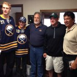 Annual #sabres season ticket delivery is underway. This is the South Buffalo group. http://t.co/VHjueLFYVO