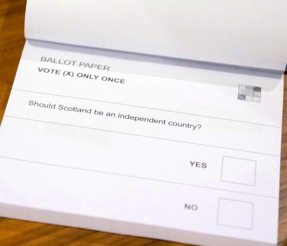 The Scotland independence ballot is a tribute to simplicity. Might be the best ballot in history: http://t.co/54eJL9yLvT pic: @ianbremmer