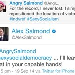 RT @Jamin2g: Alex Salmond replies to his parody account. Fair play, a Labour politician would have tried to get it shut down. http://t.co/bLYZJZ0fqJ