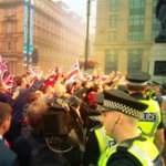 RT @ConnorGillies: Ugly riotous stand off in #GeorgeSquare #Glasgow as campaigners clash. Cops blocking off roads, separating two sides. http://t.co/HWdoo3Ta9N