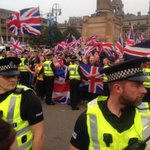 And this is George Square in Glasgow right now Friday 7pm: nazi salutes, jeering and threats #indyref http://t.co/gsJOOaoy8K